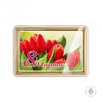 С праздником 8 марта Красные тюльпаны 160 г