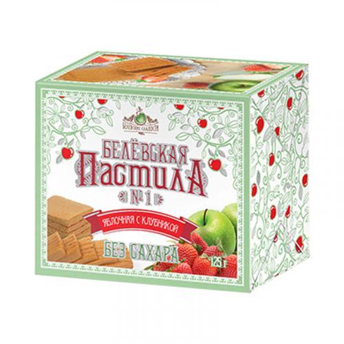 Белевская пастила яблочная с клубникой без сахара 125 г