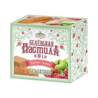 Белевская пастила яблочная с малиной без сахара 125 г