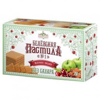 Белевская пастила яблочная с вишней без сахара 250 г