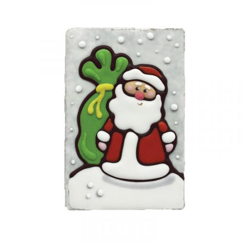 Дед Мороз на снегу с подарком 130 г