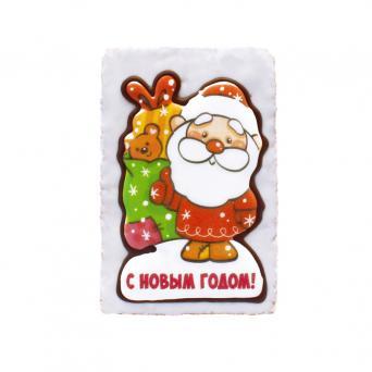 Дед мороз с мешком подарков с Новым годом 130 г