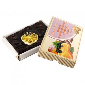Фруктовый сыр Апельсин с чёрной смородиной и грецким орехом 250 г