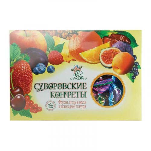 Фрукты, ягоды и орехи в шокладной глазури 500 г