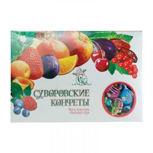 Фрукты, ягоды и орехи в шоколадной глазури 800 г