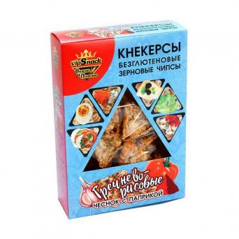 Кнекерсы Гречнево-рисовые с чесноком и паприкой 55 г