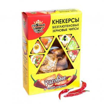 Кнекерсы Рисовые с острым перцем чили 55 г