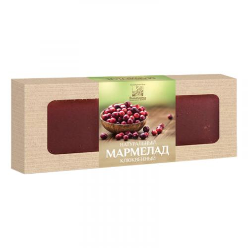 Мармелад натуральный клюквенный 320 г