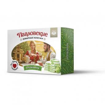 Павловские зефирные колечки со вкусом крыжовника 140 г