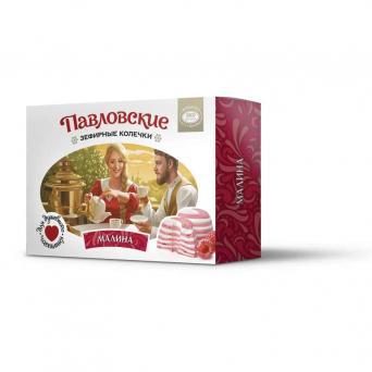 Павловские зефирные колечки со вкусом малины 140 г