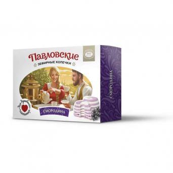 Павловские зефирные колечки со вкусом смородины 140 г