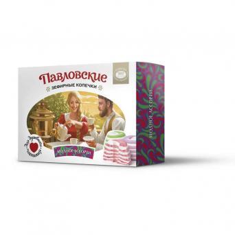 Павловские зефирные колечки со вкусом ягодного ассорти 140 г