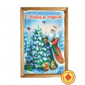 Покровский пряник Дед мороз у ёлки 700 г