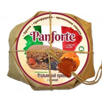 """Пряник итальянский Panforte с начинкой """"Грецкий орех, курага и чернослив"""" 300 г"""