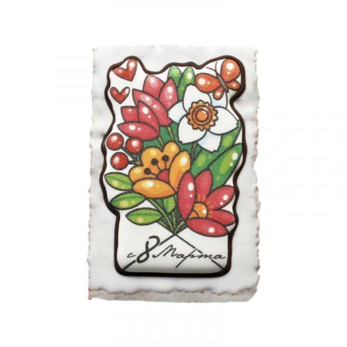 С праздником 8 марта Конверт с цветами 130 г