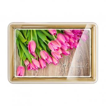 С праздником 8 марта Розовые тюльпаны 700 г