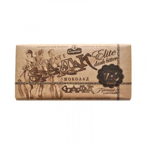 Шоколад Спартак горький-элитный 72% 90 г