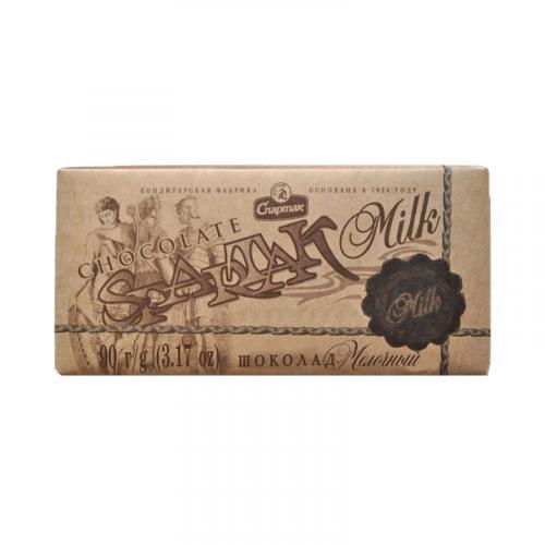 Шоколад Спартак молочный 35% 90 г