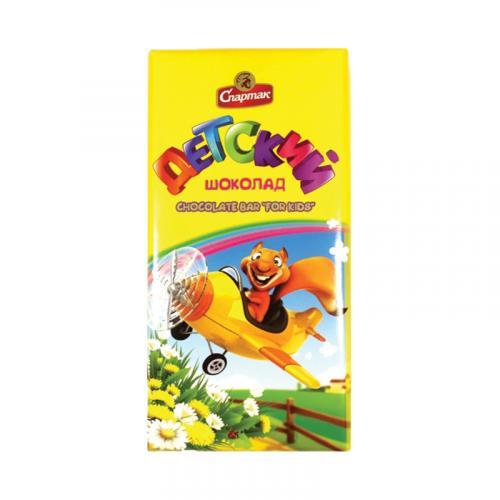 Шоколад Спартак темный Детский 90 г