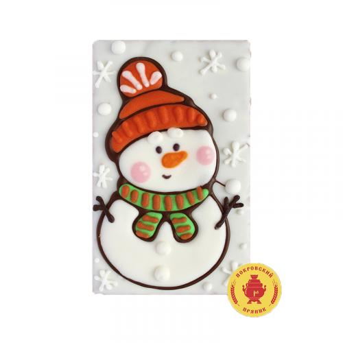 Снеговик в шапке с шарфом 130 г