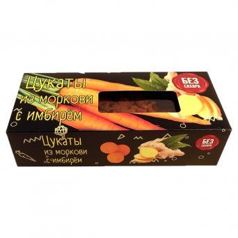Цукаты из моркови с имбирём без сахара 200 г