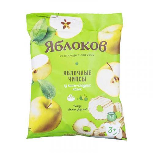 Яблочные чипсы из кисло-сладких яблок 25 г
